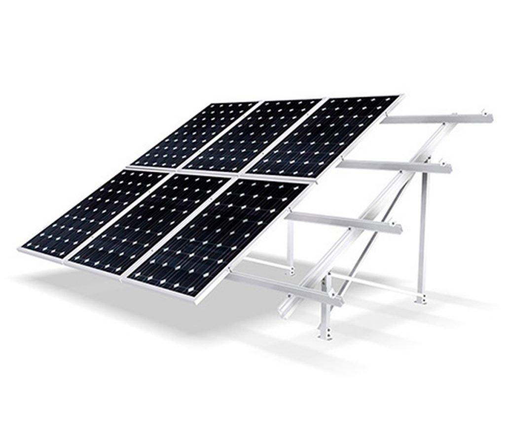estructura para paneles solares para cubiertas planas