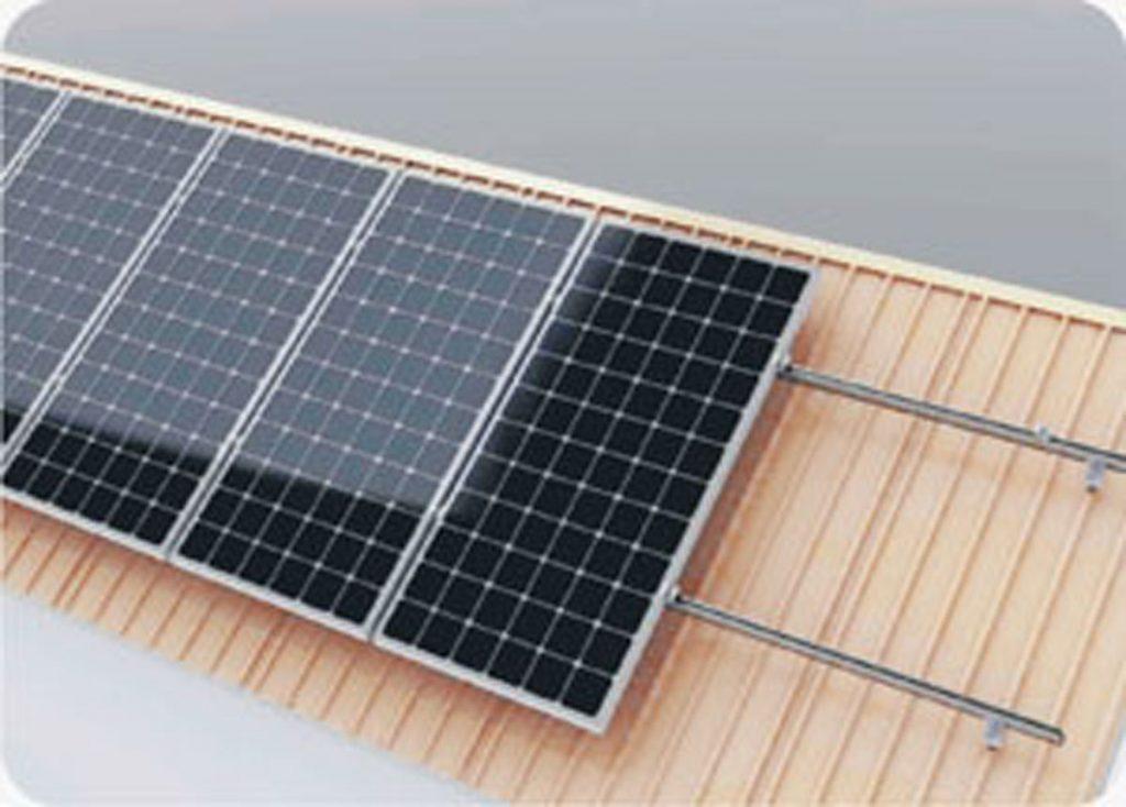 estructura para paneles solares cubierta inclinada