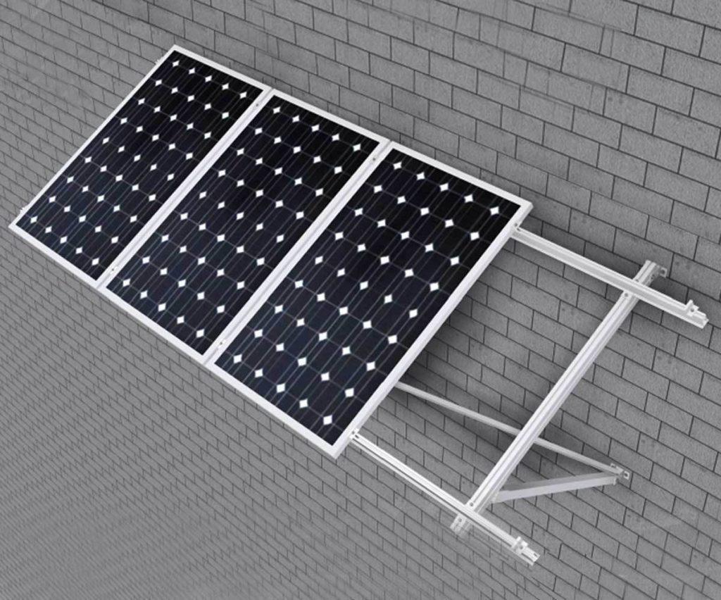 estructura para paneles solares en fachadas