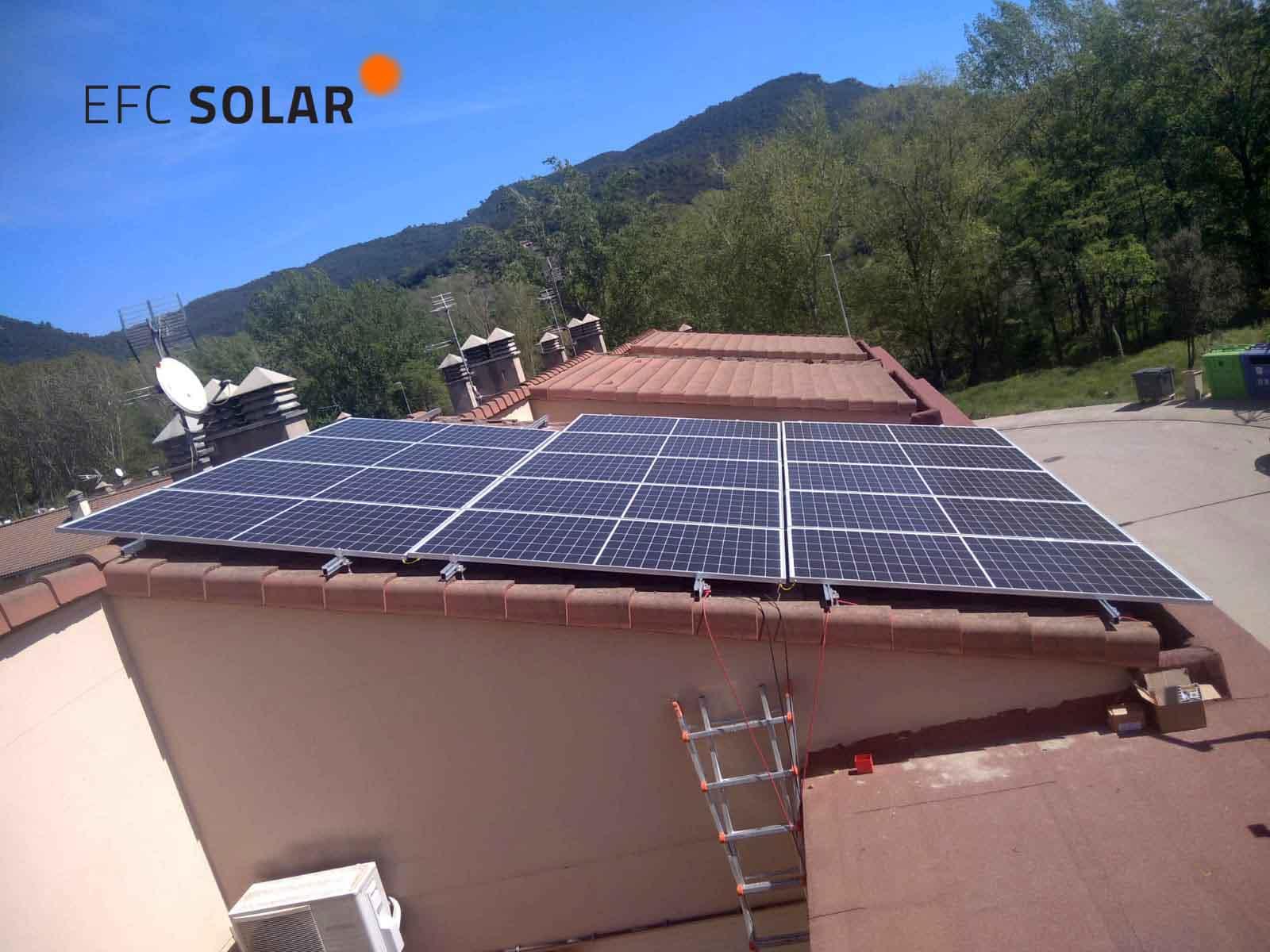instalacion de paneles solares fotovoltaicos en Amer Girona