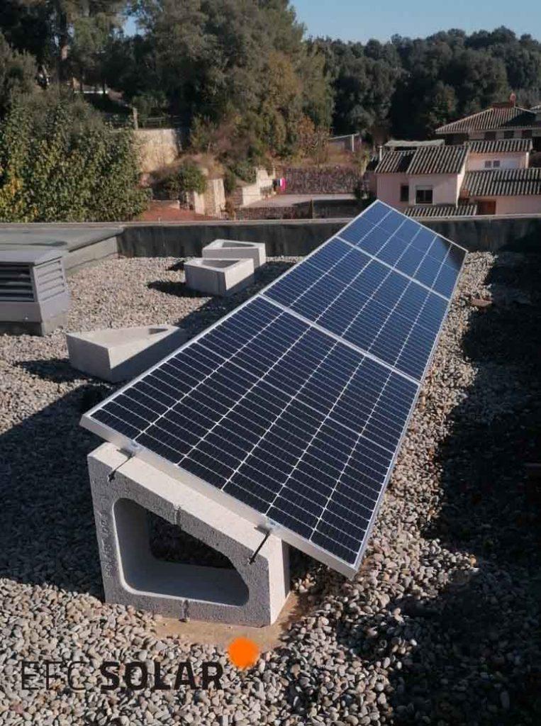 instalacion de paneles solares en taiala girona