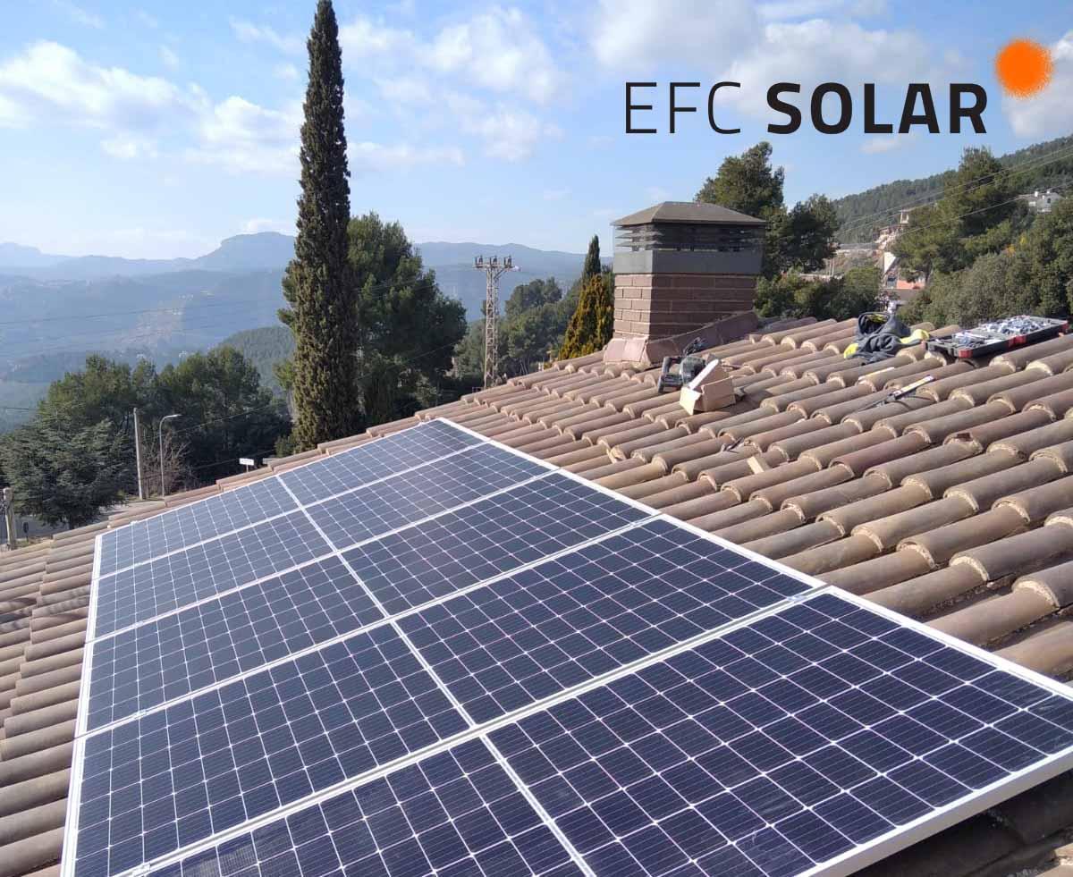 instal·lació plaques solars a casa unifamiliar ametlla del vallès barcelona