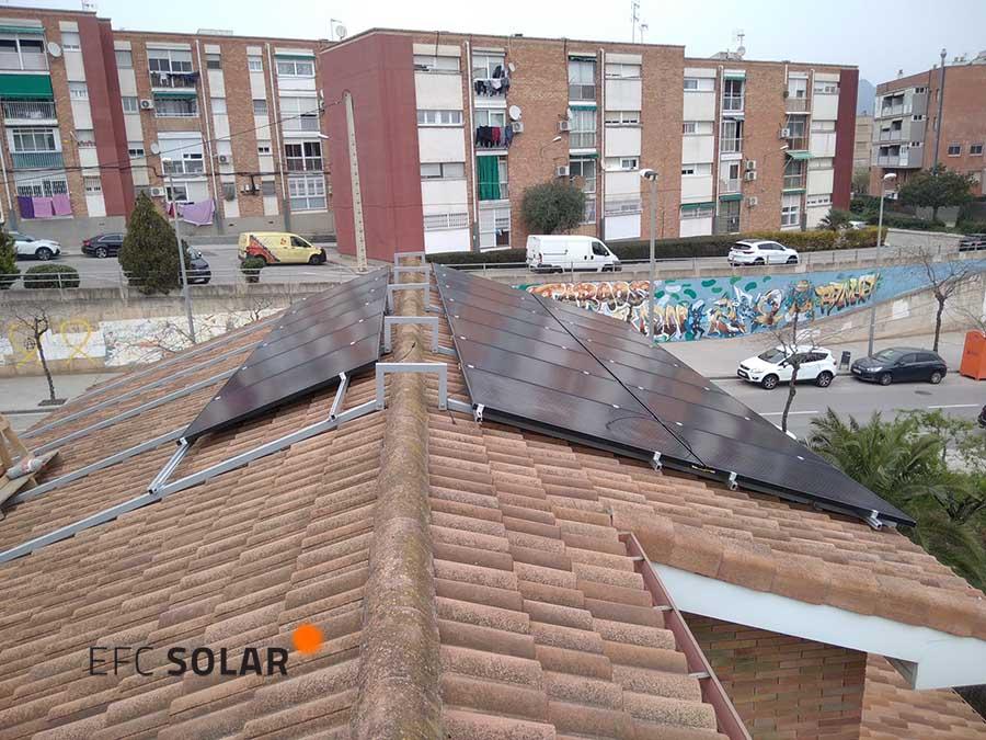 plaques solars instal·lació fotovoltaica sant vicenç dels horts de Barcelona