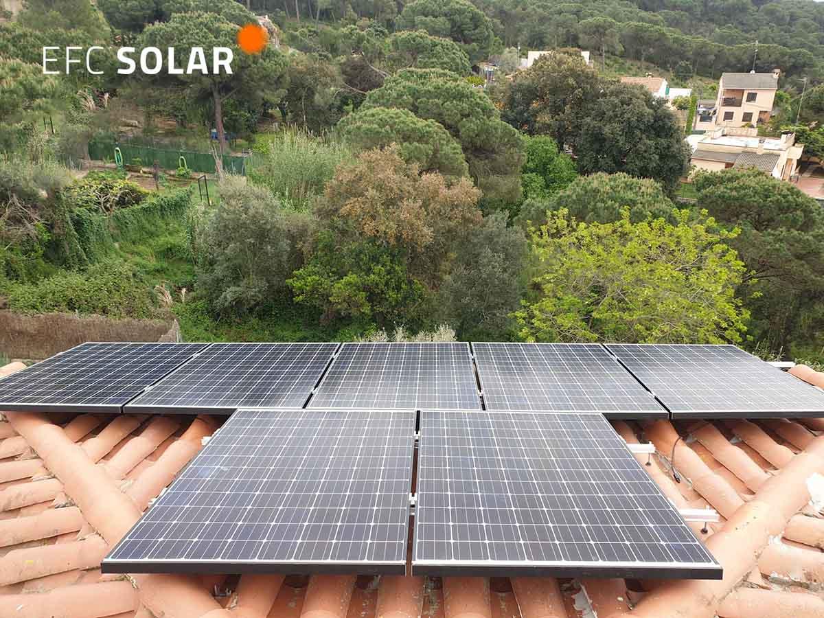 Instalacion paneles solares en lloret de mar girona costa brava