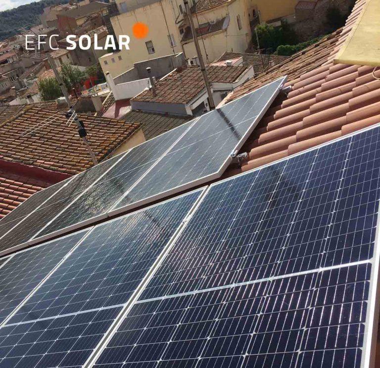 instal·lació de plaques solars amb energia solar a Olesa de Montserrat