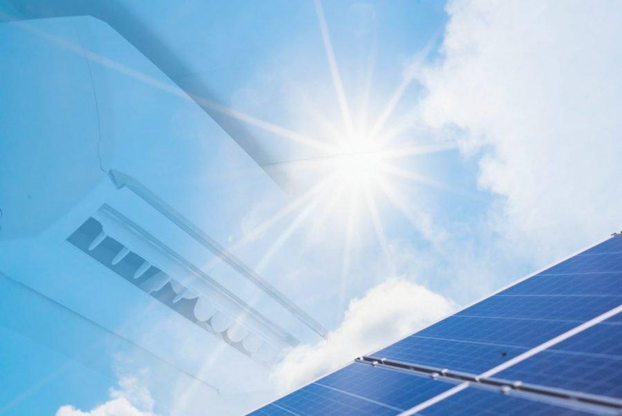placas solares y aire acondicionado
