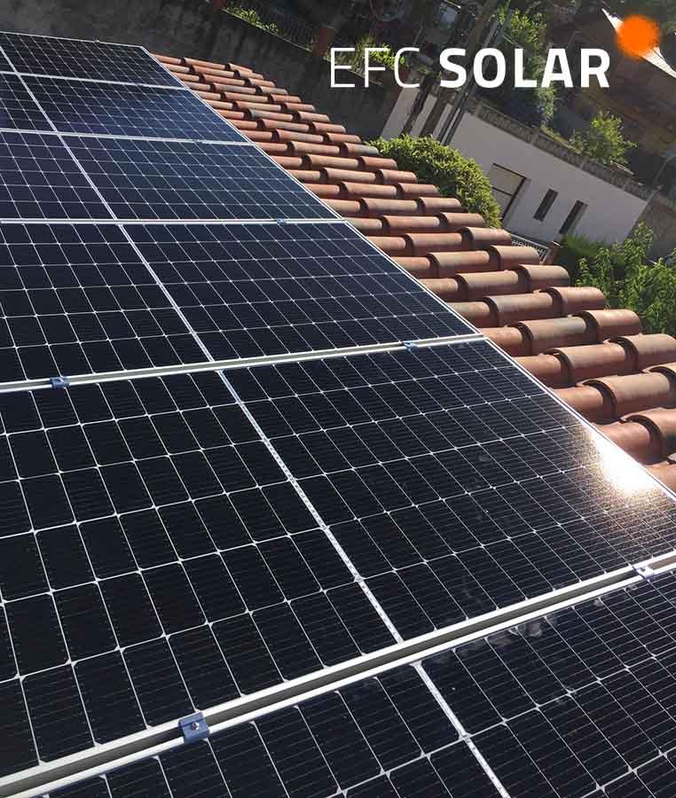 Instal·lació de plaques solars d'efc solar de Sant Cugat Barcelona