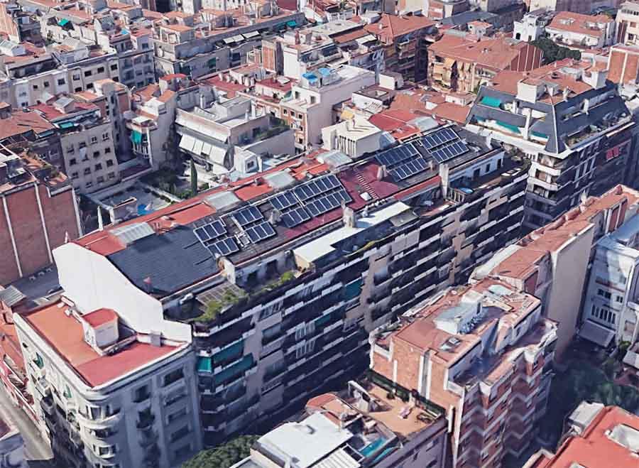 autoconsumo compartido edificio barcelona