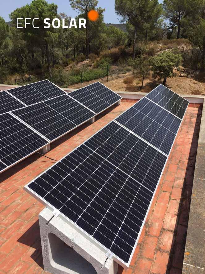 instalacion de paneles solares en calonge girona energia solar