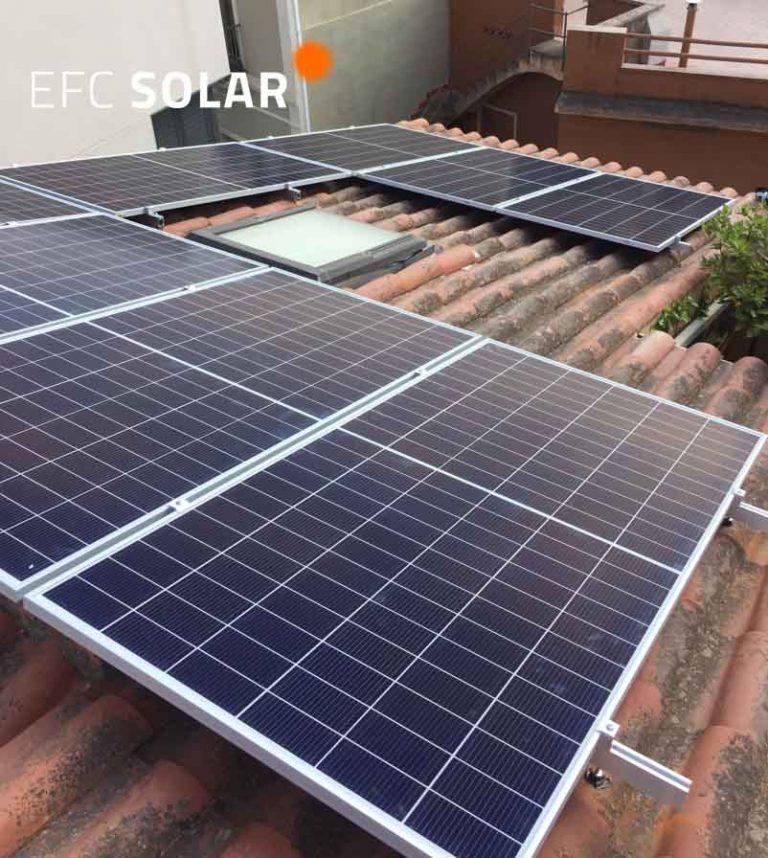 instal·lació de plaques solars a sant just desvern barcelona
