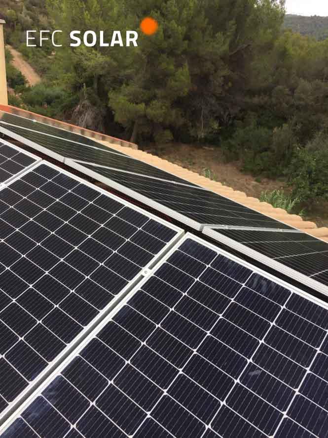 Instalación de placas solares en Abrera - Barcelona -