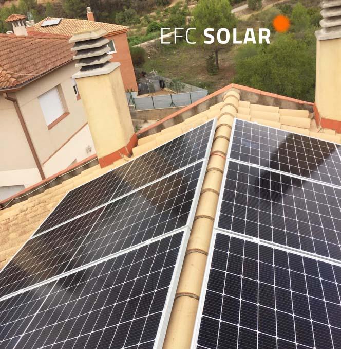 Instalación fotovoltaica placas solares en Abrera - Barcelona