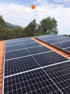 instal·laciode paneles solares a Sant Salvador de Guardiola Barcelona
