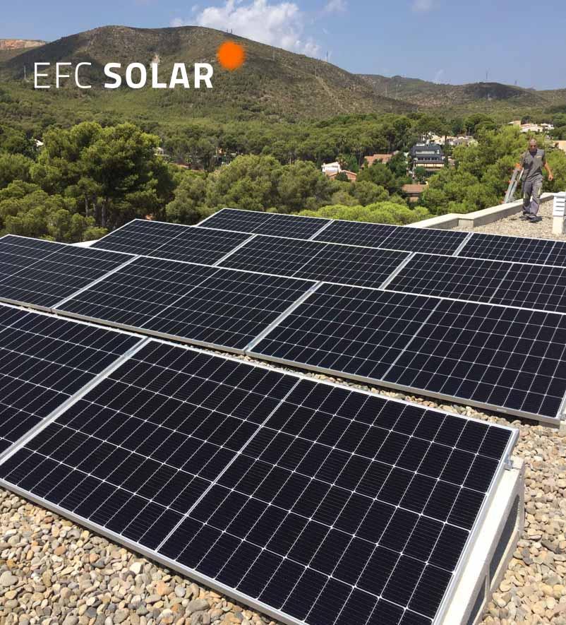 plaques solars acastelldefels barcelona panells solars