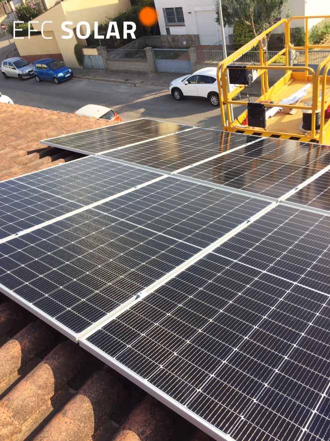 isntalacion de paneles solares en vilablareix girona